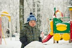 Baby boy on children's playground Royalty Free Stock Photos