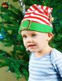 Baby boy on Christmas Royalty Free Stock Photography