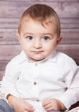 Baby boy Christmas portrait Stock Image