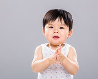 Baby boy clapping hand Royalty Free Stock Photo
