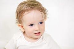 Baby boy, closeup portrait Stock Photo
