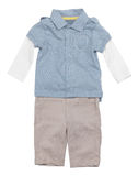 Baby Boy Clothes. Isolated on white background with clipping path royalty free stock photos