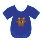 Baby Boy Clothes. Cute blue baby boy clothes royalty free illustration