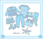 Baby boy clothes Royalty Free Stock Image