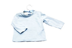 Baby boy clothes hanger with coat Stock Image