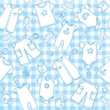Baby boy clothes seamless pattern Stock Image