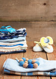Baby boy clothes Stock Photography