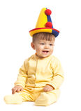 Baby boy with clown hat Royalty Free Stock Photography