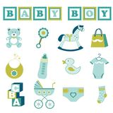 Baby boy collection Royalty Free Stock Photos