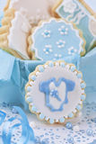 Baby boy cookies Stock Photo