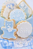 Baby boy cookies Stock Photos