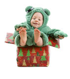 Baby boy in costume Royalty Free Stock Photos
