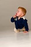 Baby Boy Crawling Royalty Free Stock Photography