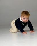 Baby Boy Crawling stock images
