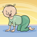 Baby boy crawling on all fours Stock Image