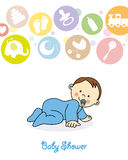 Baby boy crawling Royalty Free Stock Photos