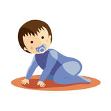 Baby boy crawling Stock Images