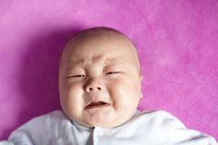 Baby boy crying Royalty Free Stock Image