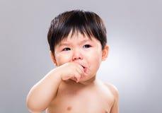 Baby boy crying Royalty Free Stock Photos