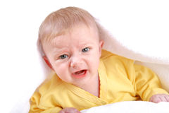 Baby Boy Crying Stock Photos