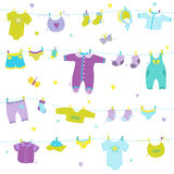 Baby Boy Cute Background Stock Images