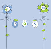 Baby Boy. Cute baby boy clothes line Royalty Free Stock Photos
