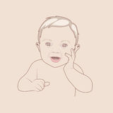 Baby boy cute vector Stock Photos