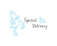 Baby boy delivery Royalty Free Stock Photos