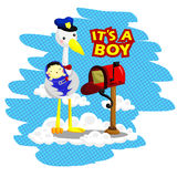 Baby Boy Delivery. A one bird delivering baby Royalty Free Stock Photography