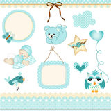 Baby boy design elements Stock Image