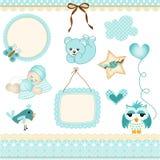 Baby boy design elements royalty free illustration