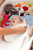 Baby boy in diaper Royalty Free Stock Photos
