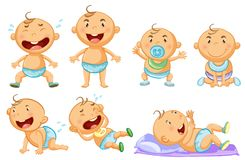 Baby boy in different actions. Illustration vector illustration