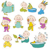 Baby Boy Doodle Set royalty free illustration