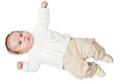 Baby boy dressed Royalty Free Stock Image