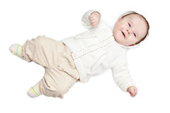 Baby boy dressed Royalty Free Stock Images