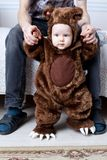 Baby boy dressed as a bear Royalty Free Stock Images