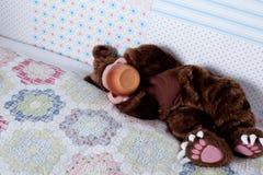 Baby boy dressed as a bear Stock Photos