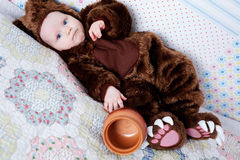 Baby boy dressed as a bear Royalty Free Stock Photography