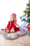 Baby boy dressed as elf Royalty Free Stock Photos