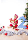 Baby boy dressed as elf Royalty Free Stock Images