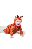 Baby boy dressed as little deer Royalty Free Stock Photos