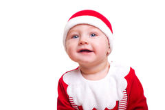 Baby boy dressed as Santa Claus Stock Photography