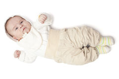 Baby boy dressed Royalty Free Stock Photos