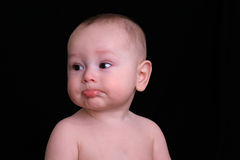 Baby Boy drooling Stock Image