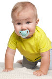 Baby boy with dummy Royalty Free Stock Image