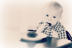 Baby Boy Eating Stock Images