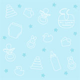 Baby boy elements Royalty Free Stock Images