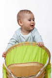 Baby boy crawls Stock Images