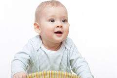 Baby boy crawls Royalty Free Stock Photo